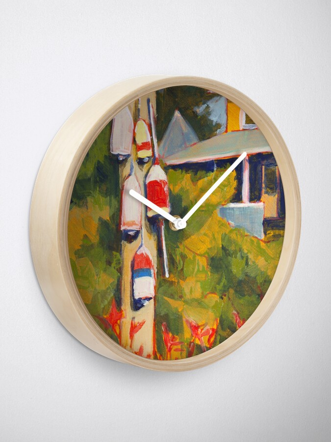 Alternate view of Buoys on a Telephone Pole Clock