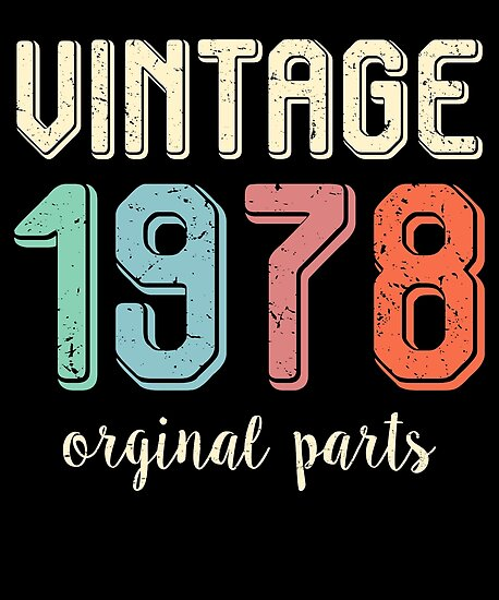 Vintage Retro 1978 40 Years Old 40th Birthday Gift T Shirt