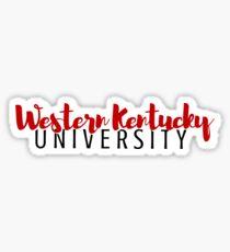 Western Kentucky University Sticker