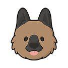 German Shepherd Face by ncdoggGraphics