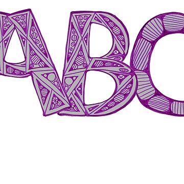 Purple ABC by KazM