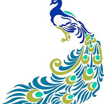 Beautiful Teal Peacock by elishamarie28