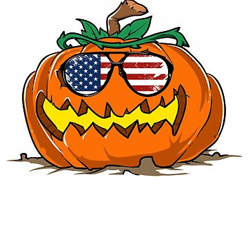 Pumpkin with USA Glasses by iwaygifts