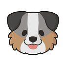 Australian Shepherd Face by ncdoggGraphics