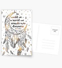 Die Welt wird gerettet werden Postkarten