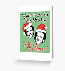 Stepbrothers Christmas Funny Quote Humor Ugly Sweater Greeting Card