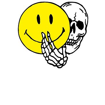 Yellow Smiley Face Skull by andreirose