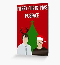 pusface (christmas). Greeting Card