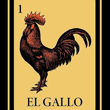 Mexican El Gallo Loteria Shirt I traditional by phskulmshirt