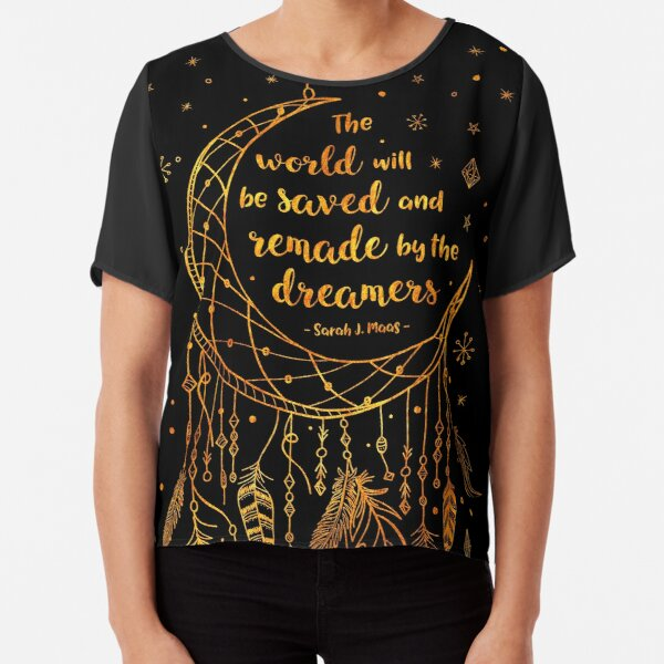 Saved and Remade - gold Chiffon Top