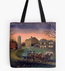 Four Horse Hitch Tote Bag