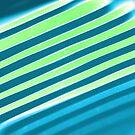 Diagonal Reflection - Blue Green by Shawna Rowe