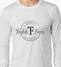 Tzedek Farm Weston WI - Black Long Sleeve T-Shirt