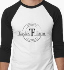 Tzedek Farm Weston WI - Black Baseball ¾ Sleeve T-Shirt