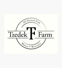 Tzedek Farm Weston WI - Black Art Print