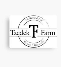 Tzedek Farm Weston WI - Black Canvas Print