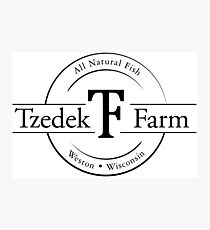 Tzedek Farm Weston WI - Black Photographic Print