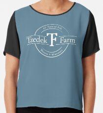 Tzedek Farm - Weston WI - White Chiffon Top