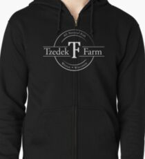 Tzedek Farm - Weston WI - White Zipped Hoodie