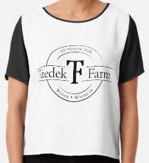 Tzedek Farm Weston WI - Black Chiffon Top