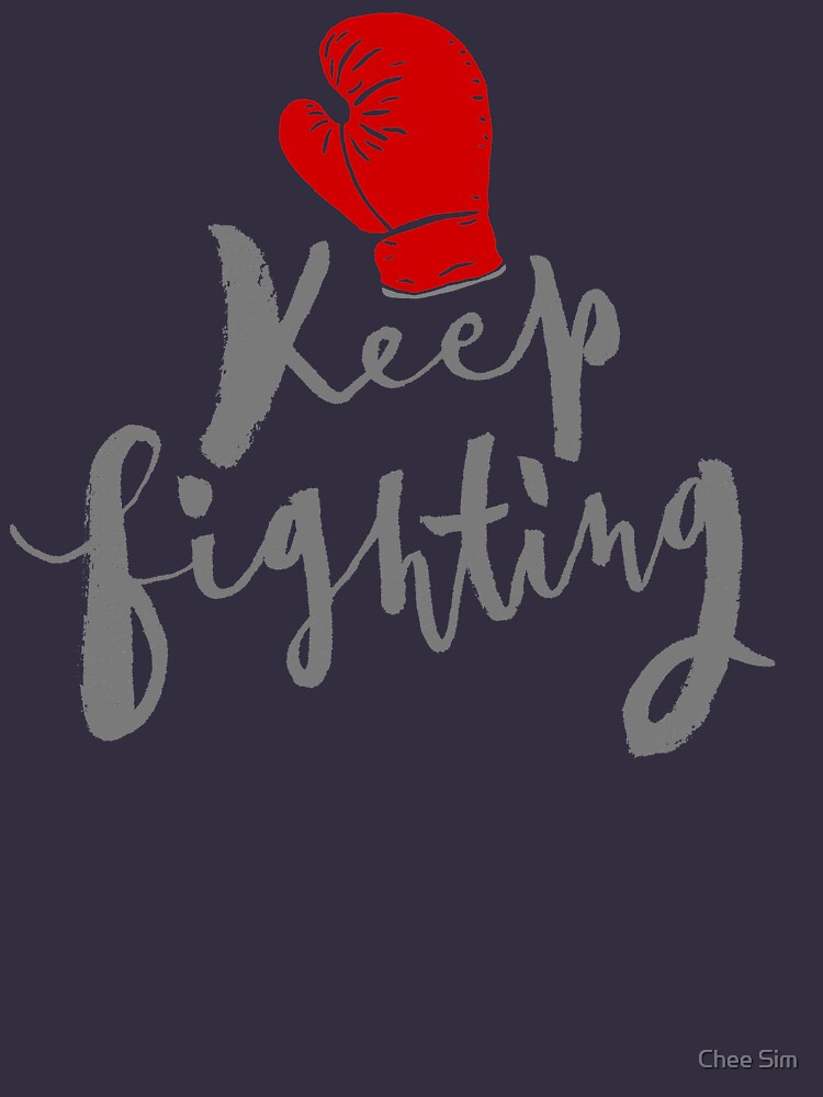 Brush lettering design - Keep Fighting by cheesim