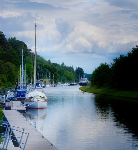 Caledonian Canal in Scotland by Yukondick