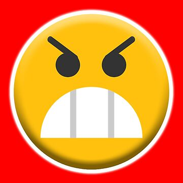 ANGRY, MR ANGRY, Upset, Emoji, Emoticon, Fierce by TOMSREDBUBBLE