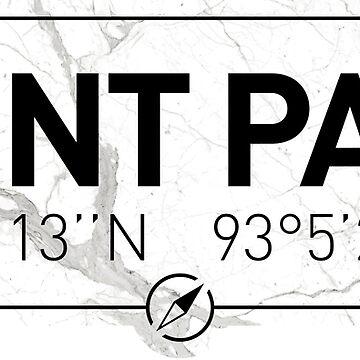The longitude and latitude of Saint Paul, MN by efomylod