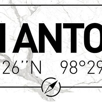 The longitude and latitude of San Antonio, TX by efomylod