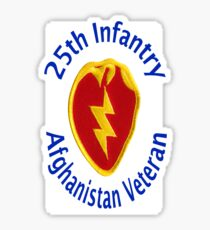 25th Infantry - Afghanistan Veteran Sticker