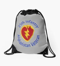 25th Infantry - Afghanistan Veteran Drawstring Bag