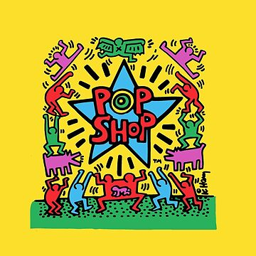 Keith Haring Pop Shop Poster by 1000grau