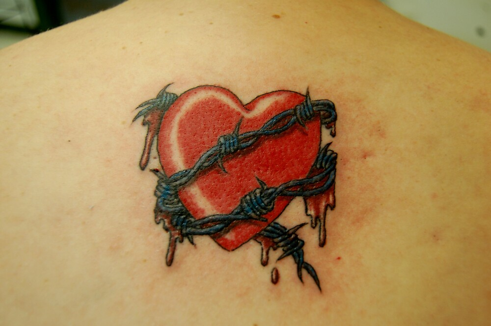 Barbed wire wrapped heart by JimmyJack
