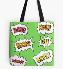 Comc Book Cool Geeky Kids Decor Colorful Pattern T-Shirts Tote Bag