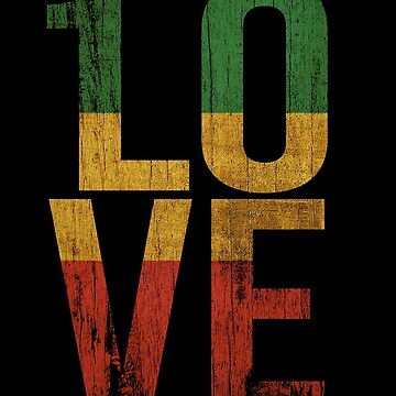 1 Love Reggae Music Inspired Design Rasta Roots Rock by UGRcollection