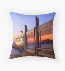 Maritime Sunset Reflections Throw Pillow