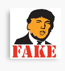 FAKE NEWS - PRESIDENT TRUMP Canvas Print