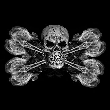 Skull With Crossbones Mono by silversnapper1