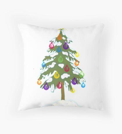 Christmas Tree 2018 Throw Pillow