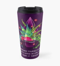 """""""Surround Yourself With What's Good in Life"""" Terrarium Dragon Travel Mug"""