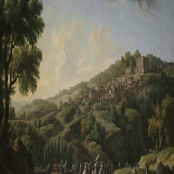 Villa at Caprarola-Claude-Joseph Vernet by LexBauer