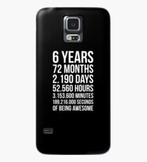 Awesome 6th Birthday Shirt Funny 6 Year Old Birthday Gift Case/Skin for Samsung Galaxy