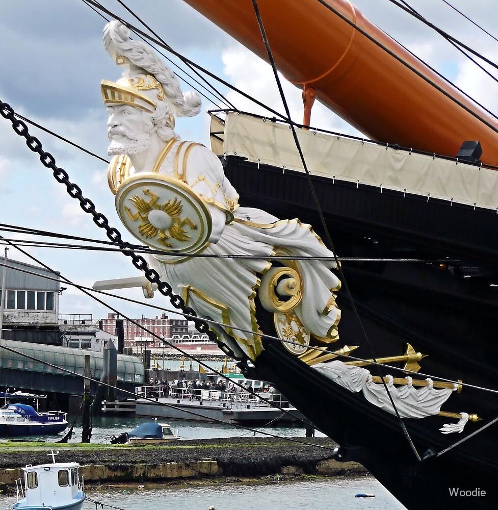 HMS Warrior figurehead by Woodie