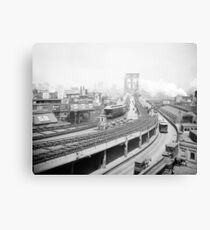 Lienzo Brooklyn Bridge Terminal, 1903. Foto de época