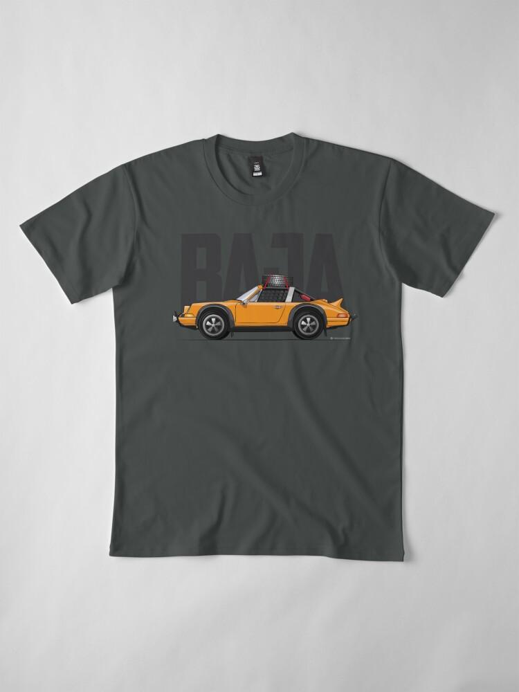 Alternate view of Baja-Orange Premium T-Shirt
