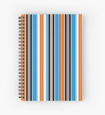 Retro Fashion 60's Stripes Spiral Notebook