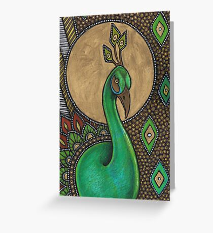 Icon VII: The Peacock Greeting Card