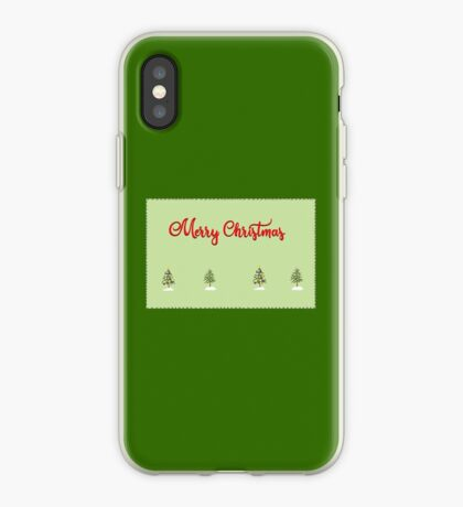 Merry Christmas Trees Stitches iPhone Case
