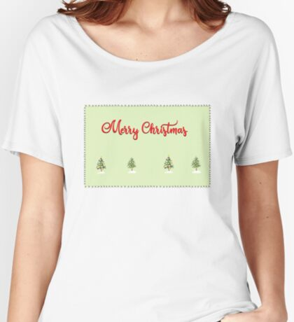 Merry Christmas Trees Stitches Women's Relaxed Fit T-Shirt