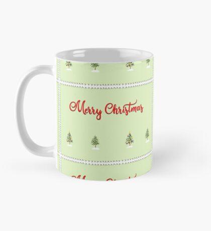 Merry Christmas Trees Stitches Mug